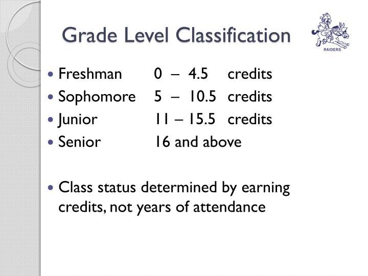 Grade Level Classification
