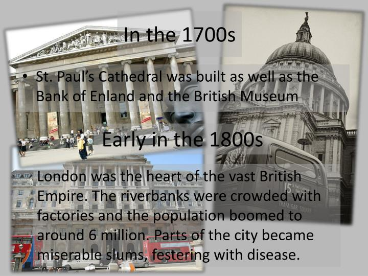 In the 1700s