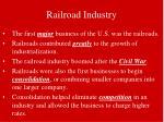 railroad industry