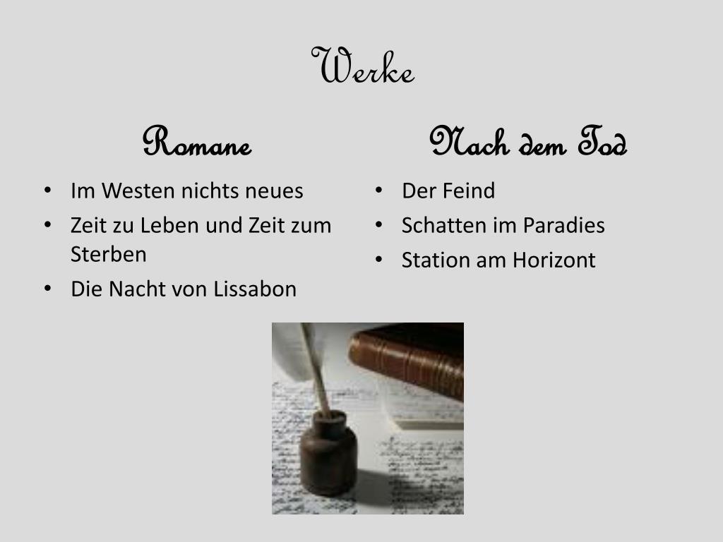 Erich Maria Remarque Werke