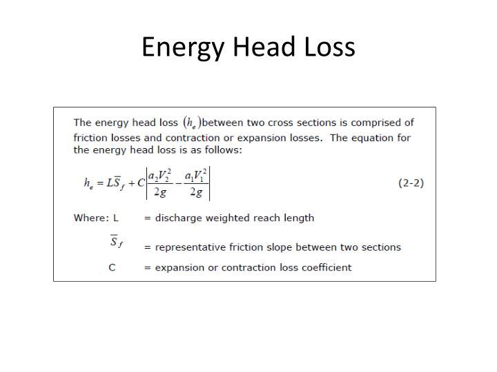 Energy Head Loss
