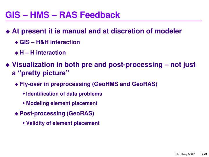 GIS – HMS – RAS Feedback