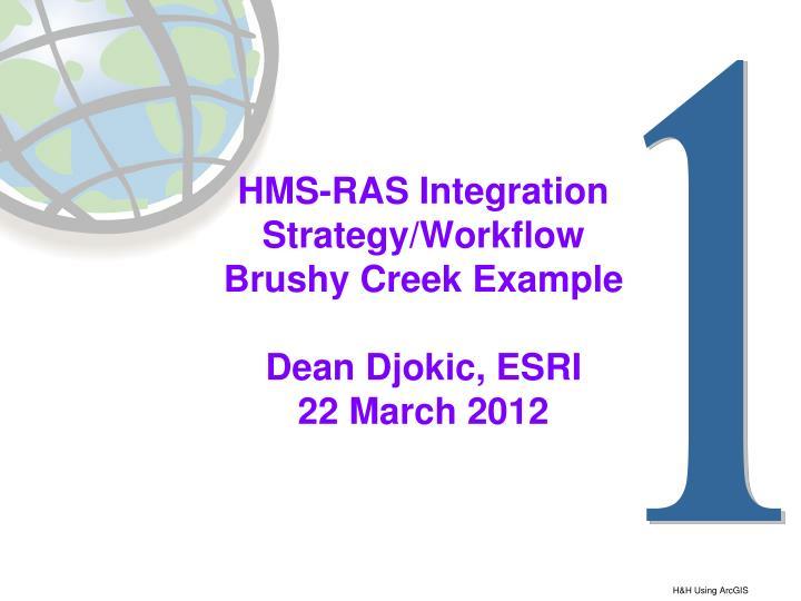 HMS-RAS Integration Strategy/Workflow