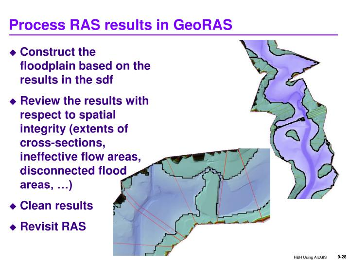 Process RAS results in GeoRAS