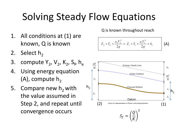 Solving Steady Flow Equations