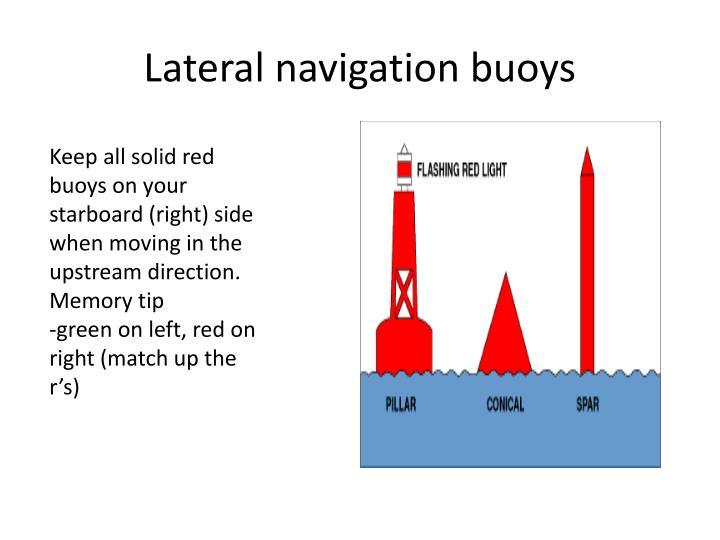 Lateral navigation buoys1