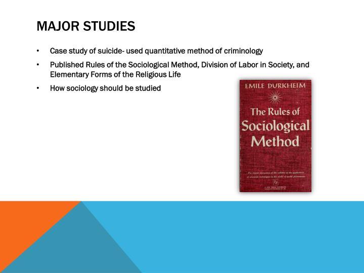 Major Studies