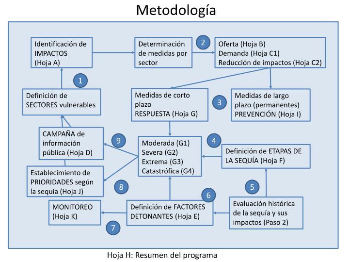 Determinación de medidas por sector