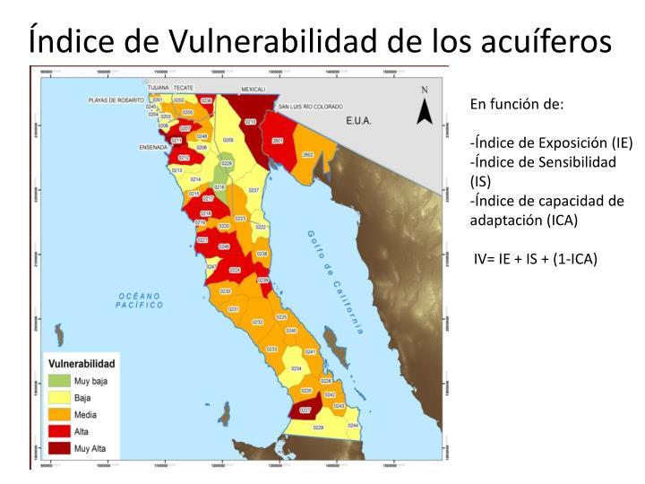Índice de Vulnerabilidad de los acuíferos