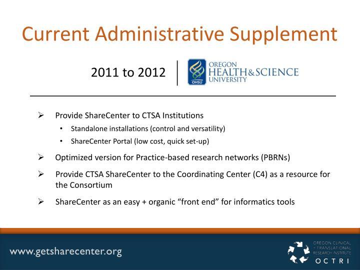 Current Administrative Supplement