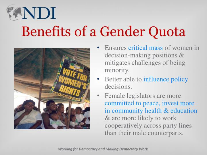 Benefits of a Gender Quota