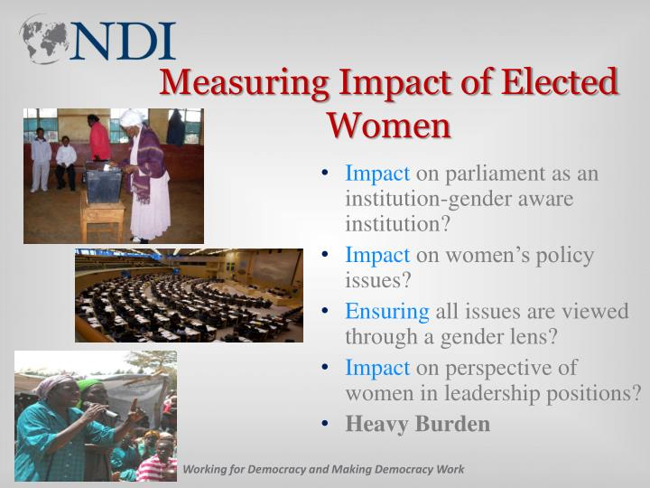 Measuring Impact of Elected Women