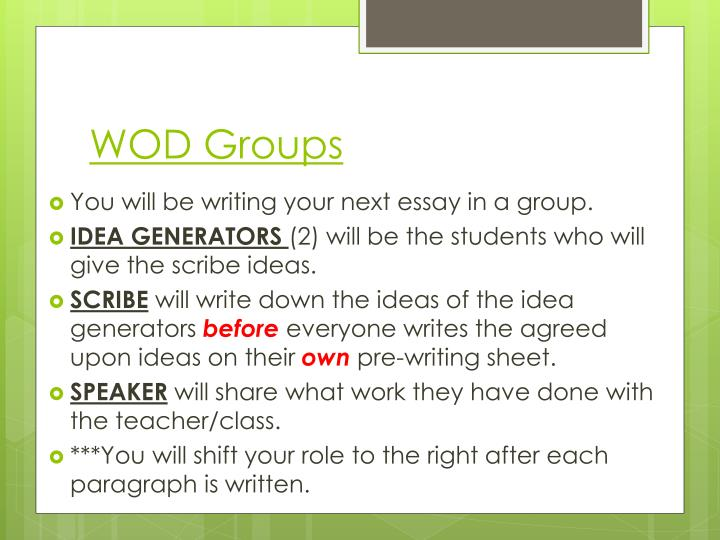 essay groups Even one could also be asked to write an essay on group work for this reason students are encouraged to form groups for when asked to write an essay.
