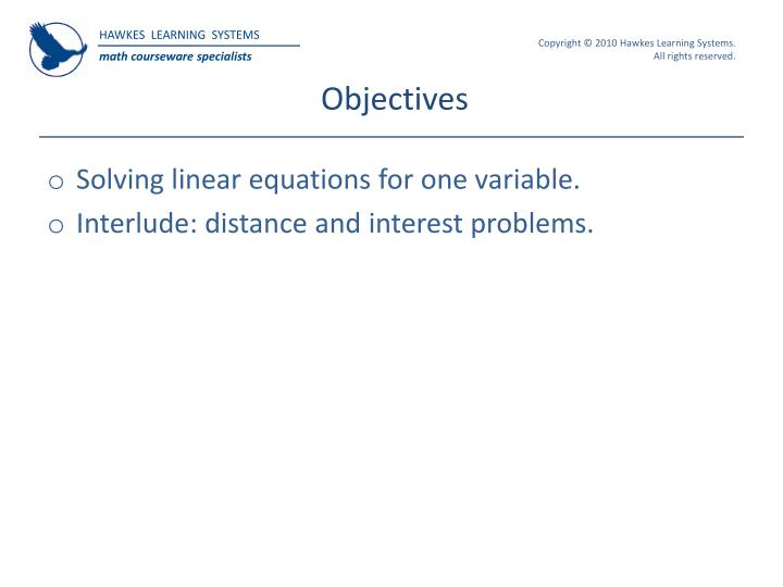 Ppt hawkes learning systems college algebra powerpoint objectives fandeluxe Choice Image