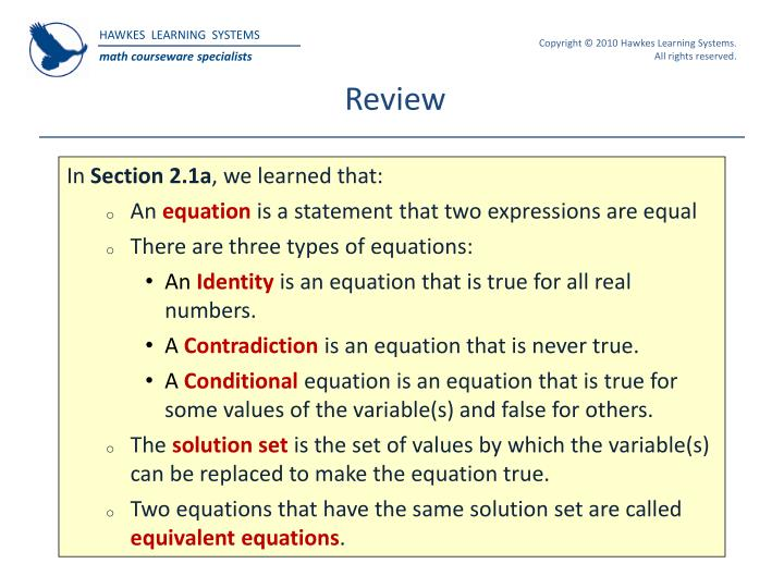 Ppt hawkes learning systems college algebra powerpoint review fandeluxe Choice Image