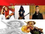 my favorite artists