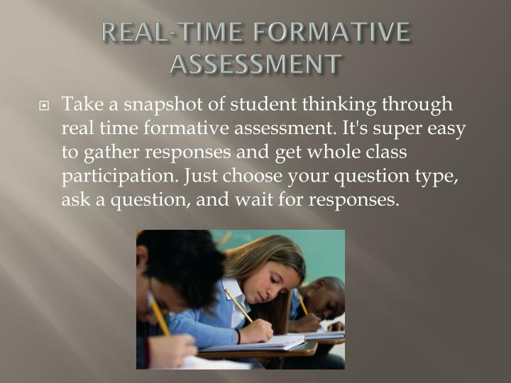 Real time formative assessment