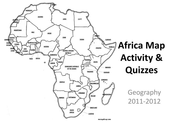 Africa Map Activity PPT   Africa Map Activity & Quizzes PowerPoint Presentation, free
