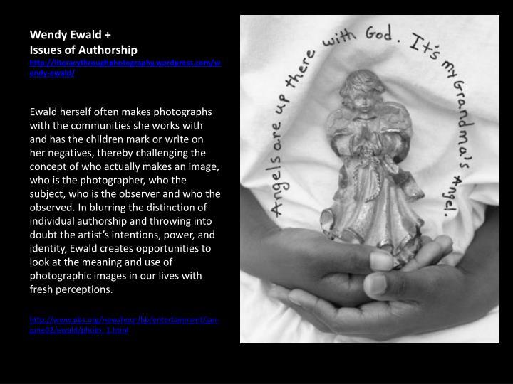 Wendy ewald issues of authorship http literacythroughphotography wordpress com wendy ewald