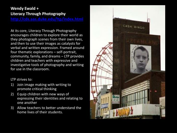 Wendy ewald literacy through photography http cds aas duke edu ltp index html