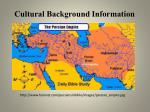 cultural background information