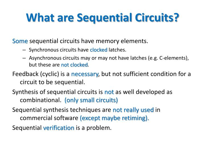 What are Sequential Circuits?
