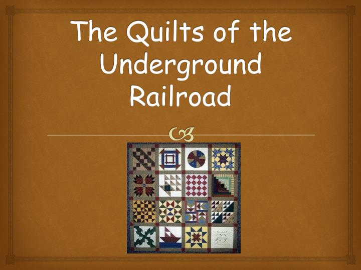 the quilts of the underground railroad n.