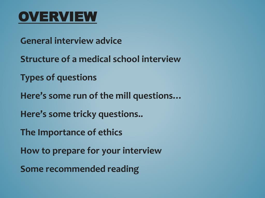 PPT - Medical School Interviews PowerPoint Presentation - ID