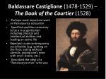 baldassare castiglione 1478 1529 the book of the courtier 1528