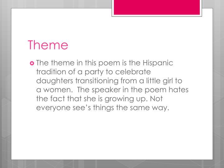 Ppt Quinceañera By Judith Ortiz Cofer Powerpoint Presentation