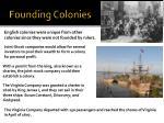 founding colonies