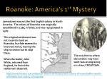 roanoke america s 1 st mystery