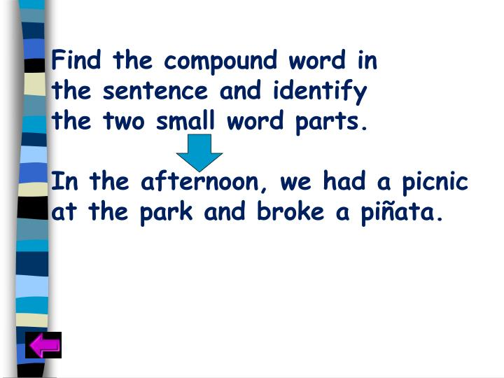 Find the compound word in