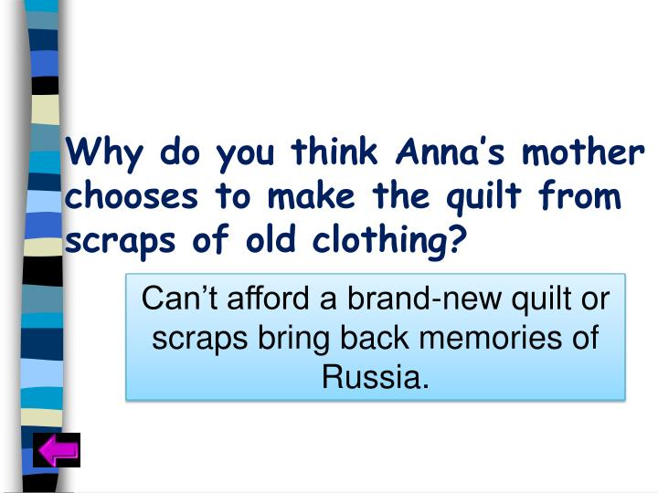 Why do you think Anna's mother