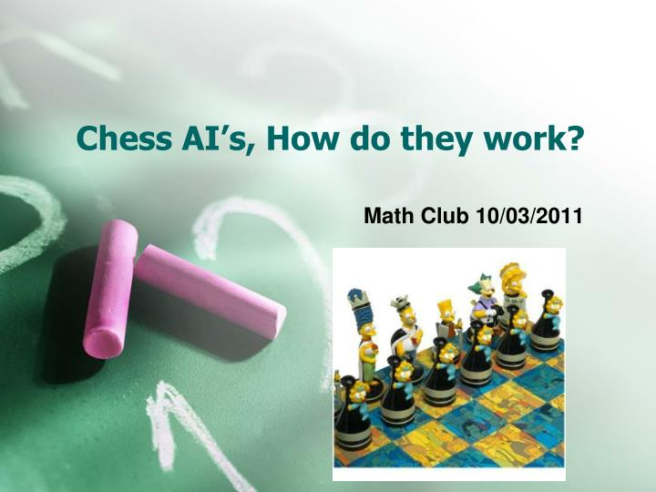 Chess ai s how do they work