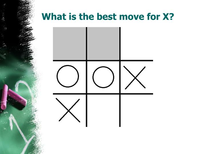 What is the best move for x
