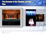 the browser is the theater not the play