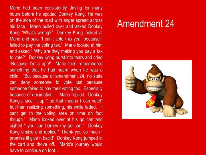 Amendment 24