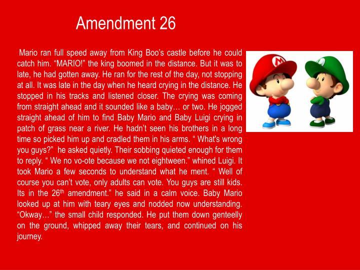 Amendment 26