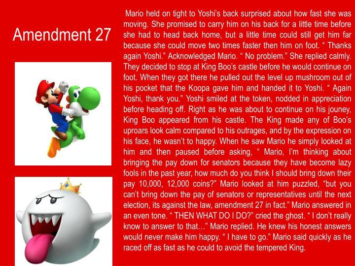 Amendment 27