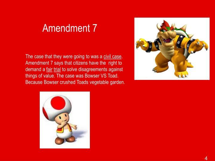 Amendment 7