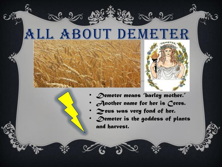 all about demeter n.