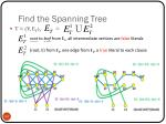 find the spanning tree