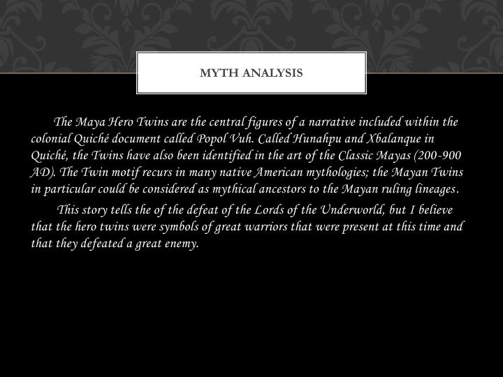 Myth analysis