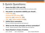 5 quick questions