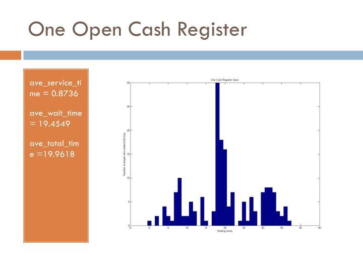One Open Cash Register