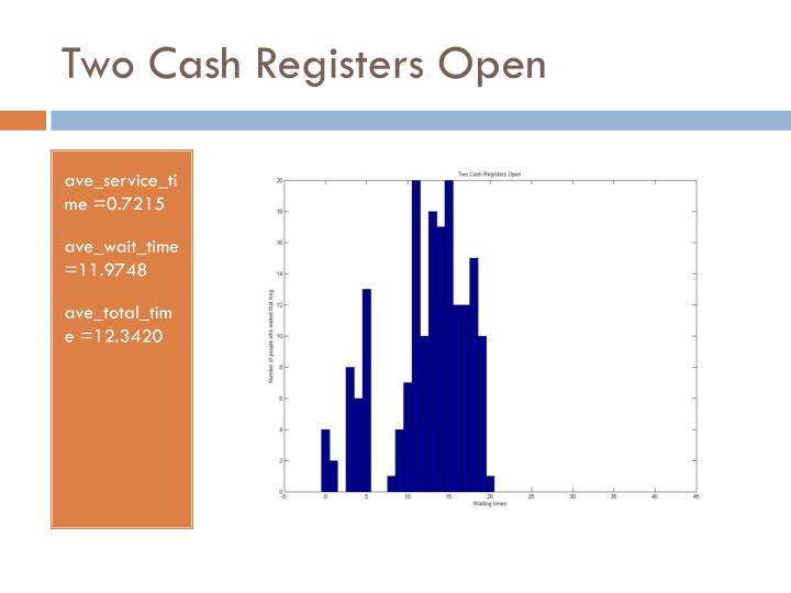 Two Cash Registers Open
