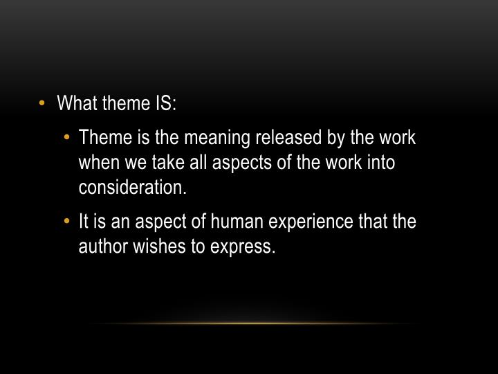literature and aspects of the human experience Like so many ideas, it is easy to understand the four levels of human experience, but not understanding them can be risky if we don't understand this idea, we might become stuck in the lower levels and never even realize the higher levels exist.