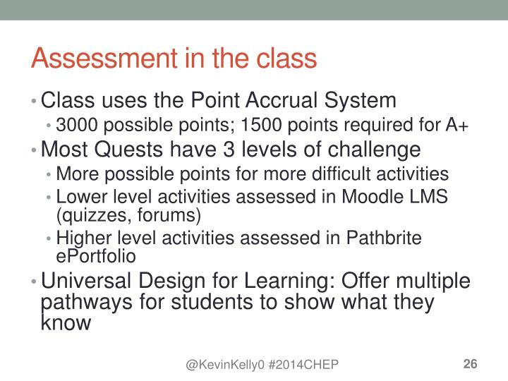 Assessment in the class