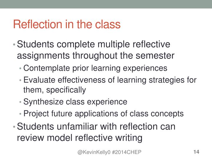 Reflection in the class